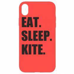 Чохол для iPhone XR Eat, sleep, kite