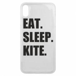 Чохол для iPhone Xs Max Eat, sleep, kite