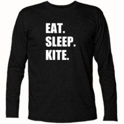 Футболка з довгим рукавом Eat, sleep, kite
