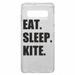Чохол для Samsung S10+ Eat, sleep, kite