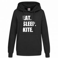 Толстовка жіноча Eat, sleep, kite