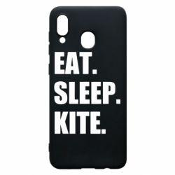 Чохол для Samsung A20 Eat, sleep, kite