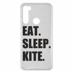 Чохол для Xiaomi Redmi Note 8 Eat, sleep, kite