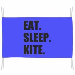 Прапор Eat, sleep, kite