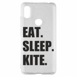 Чохол для Xiaomi Redmi S2 Eat, sleep, kite