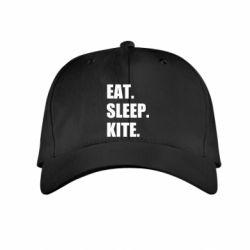 Дитяча кепка Eat, sleep, kite