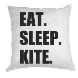 Подушка Eat, sleep, kite