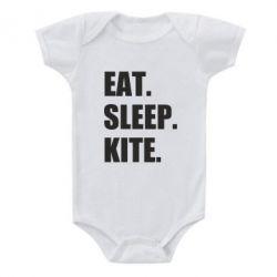 Дитячий бодік Eat, sleep, kite