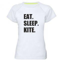 Жіноча спортивна футболка Eat, sleep, kite
