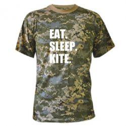 Камуфляжна футболка Eat, sleep, kite