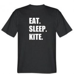 Чоловіча футболка Eat, sleep, kite