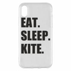 Чохол для iPhone X/Xs Eat, sleep, kite