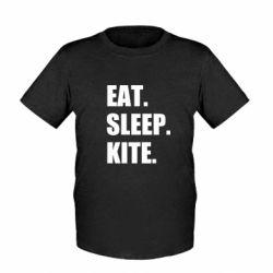 Дитяча футболка Eat, sleep, kite