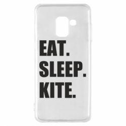 Чохол для Samsung A8 2018 Eat, sleep, kite