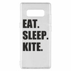 Чохол для Samsung Note 8 Eat, sleep, kite