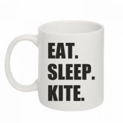Кружка 320ml Eat, sleep, kite