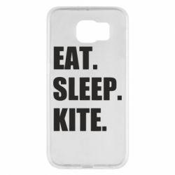 Чохол для Samsung S6 Eat, sleep, kite