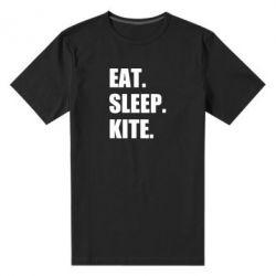 Чоловіча стрейчева футболка Eat, sleep, kite