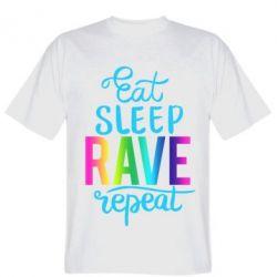 Чоловіча футболка Eat, sleep, RAVE, repeat