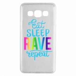 Чохол для Samsung A3 2015 Eat, sleep, RAVE, repeat