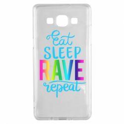 Чохол для Samsung A5 2015 Eat, sleep, RAVE, repeat