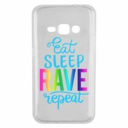 Чохол для Samsung J1 2016 Eat, sleep, RAVE, repeat