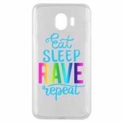 Чохол для Samsung J4 Eat, sleep, RAVE, repeat