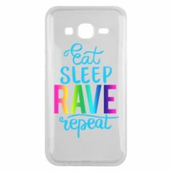 Чохол для Samsung J5 2015 Eat, sleep, RAVE, repeat