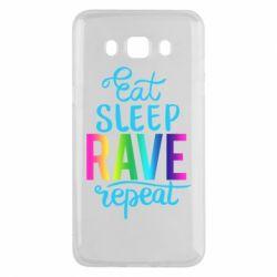 Чохол для Samsung J5 2016 Eat, sleep, RAVE, repeat