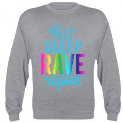 Реглан (світшот) Eat, sleep, RAVE, repeat