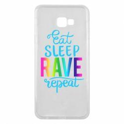 Чохол для Samsung J4 Plus 2018 Eat, sleep, RAVE, repeat
