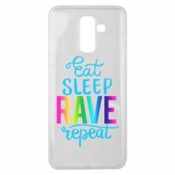 Чохол для Samsung J8 2018 Eat, sleep, RAVE, repeat