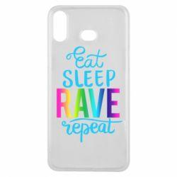 Чохол для Samsung A6s Eat, sleep, RAVE, repeat