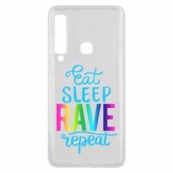 Чохол для Samsung A9 2018 Eat, sleep, RAVE, repeat