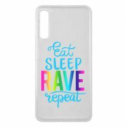 Чохол для Samsung A7 2018 Eat, sleep, RAVE, repeat