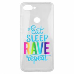 Чохол для Xiaomi Mi8 Lite Eat, sleep, RAVE, repeat