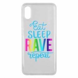Чохол для Xiaomi Mi8 Pro Eat, sleep, RAVE, repeat