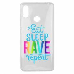 Чохол для Xiaomi Mi Max 3 Eat, sleep, RAVE, repeat