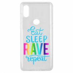 Чохол для Xiaomi Mi Mix 3 Eat, sleep, RAVE, repeat