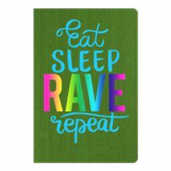 Блокнот А5 Eat, sleep, RAVE, repeat
