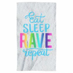 Рушник Eat, sleep, RAVE, repeat