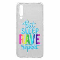 Чохол для Xiaomi Mi9 Eat, sleep, RAVE, repeat