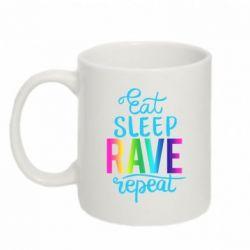 Кружка 320ml Eat, sleep, RAVE, repeat