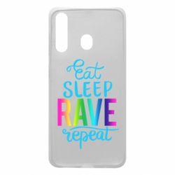 Чохол для Samsung A60 Eat, sleep, RAVE, repeat