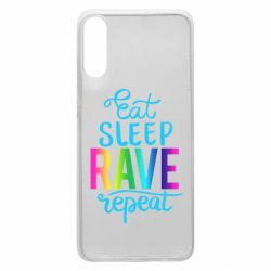 Чохол для Samsung A70 Eat, sleep, RAVE, repeat