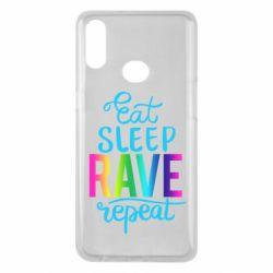 Чохол для Samsung A10s Eat, sleep, RAVE, repeat