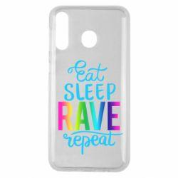 Чохол для Samsung M30 Eat, sleep, RAVE, repeat