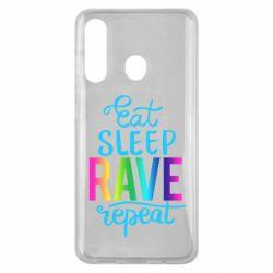 Чохол для Samsung M40 Eat, sleep, RAVE, repeat