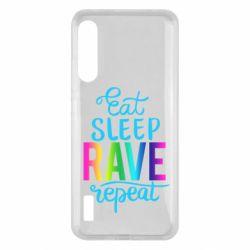 Чохол для Xiaomi Mi A3 Eat, sleep, RAVE, repeat