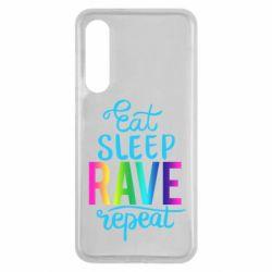 Чохол для Xiaomi Mi9 SE Eat, sleep, RAVE, repeat